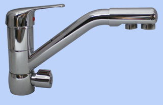 Kitchen Sink Twin Faucet