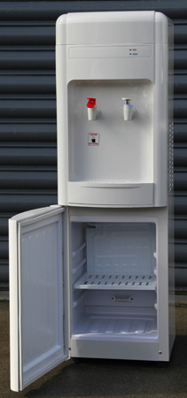Hot and Cold Freestanding Water Cooler with fridge