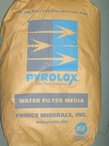 Pyrolox/Filox Iron Reduction Media